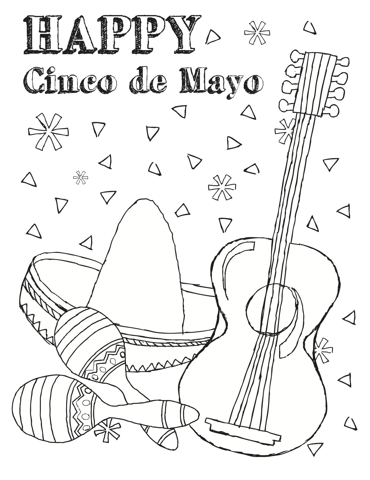 photo about Cinco De Mayo Coloring Pages Printable called Cost-free Printable Cinco De Mayo Coloring Internet pages For Children - Easiest