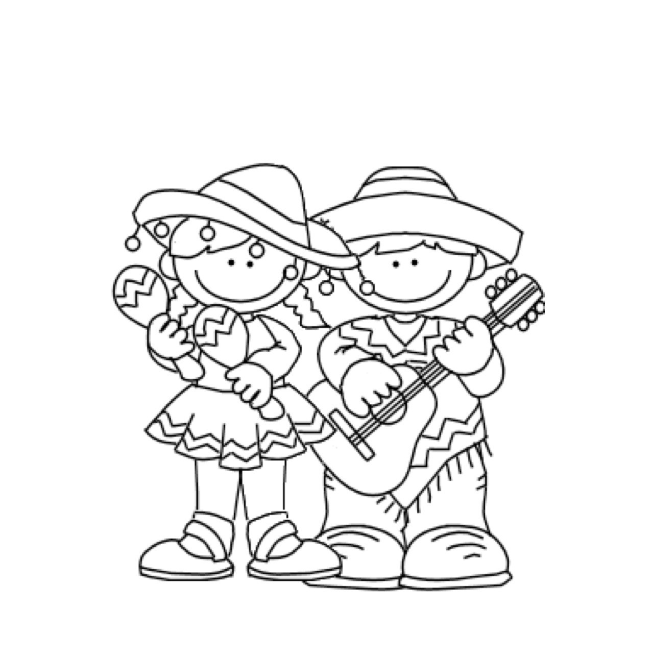 picture relating to Cinco De Mayo Coloring Pages Printable named Free of charge Printable Cinco De Mayo Coloring Internet pages For Children - Least difficult