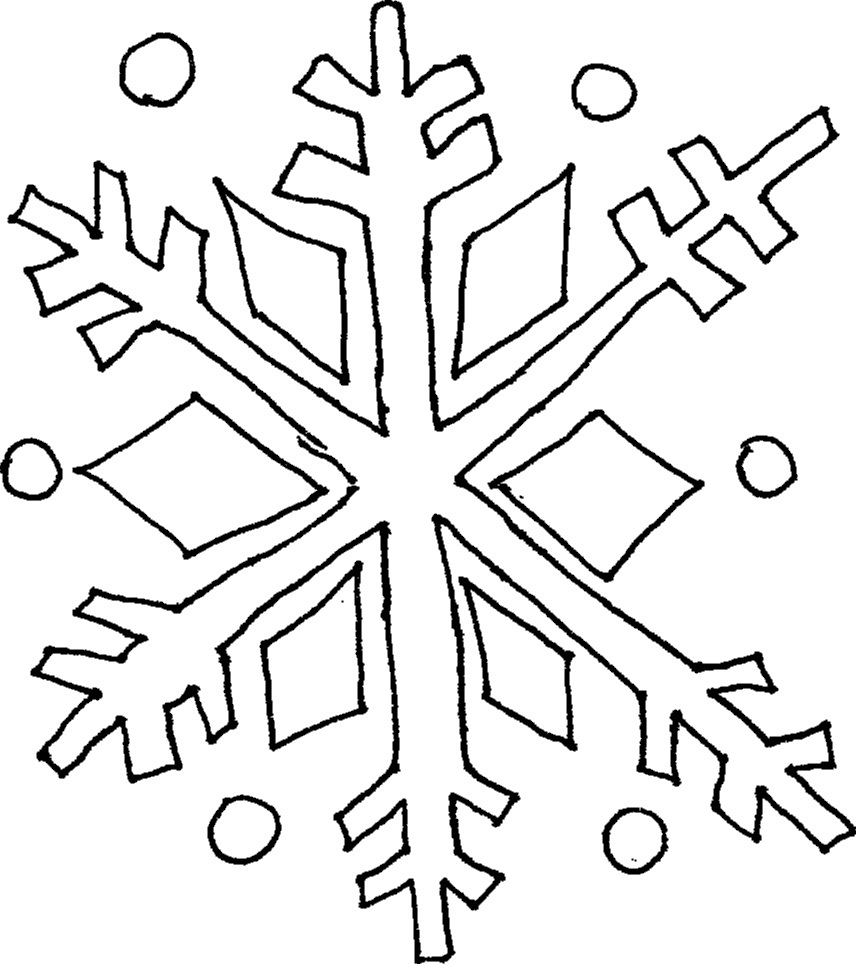 This is a photo of Soft snowflakes coloring pages printable