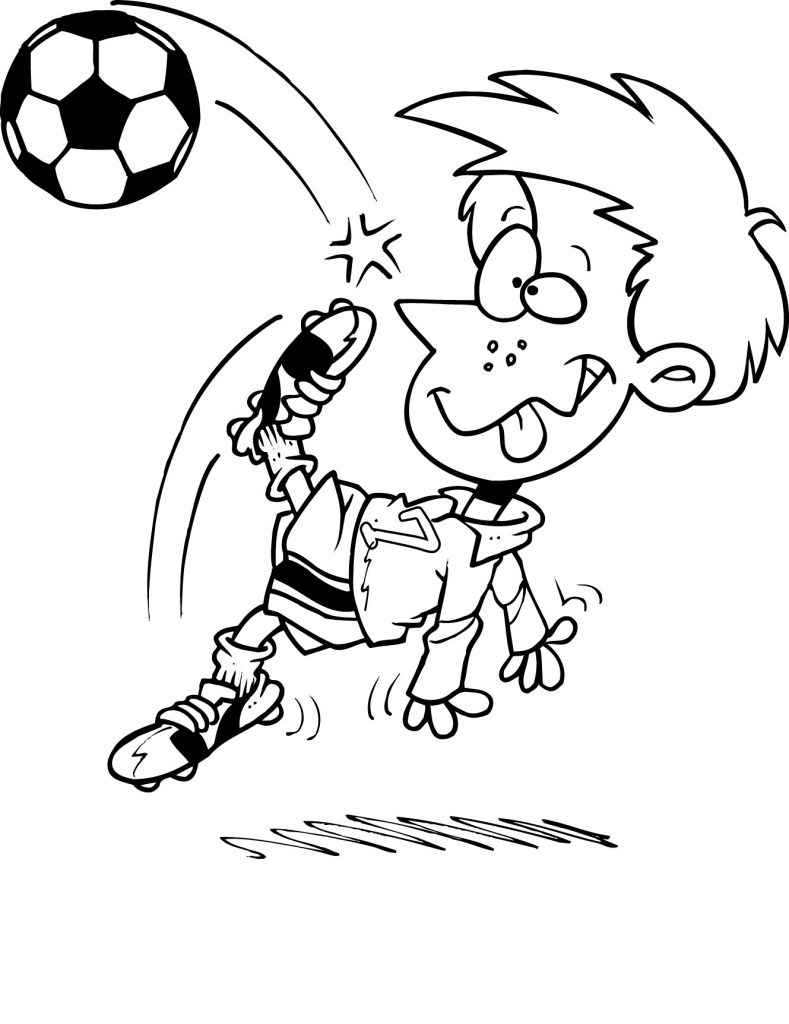 free printable kid coloring pages | Free Printable Soccer Coloring Pages For Kids