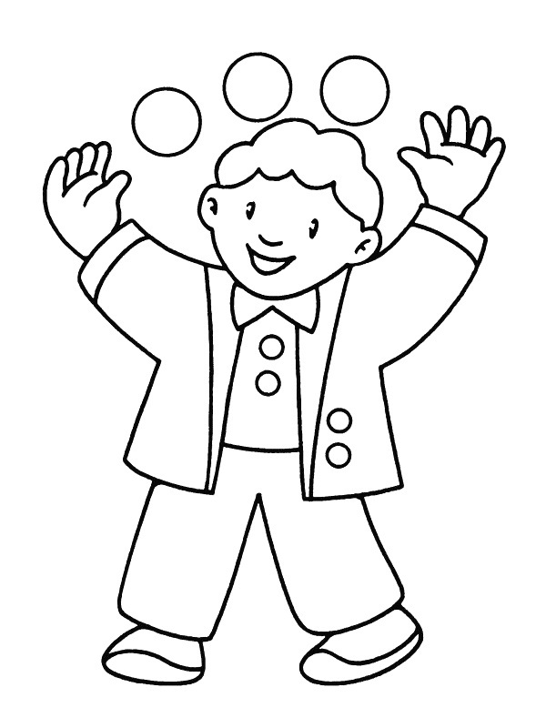 Coloring Pages of Boys