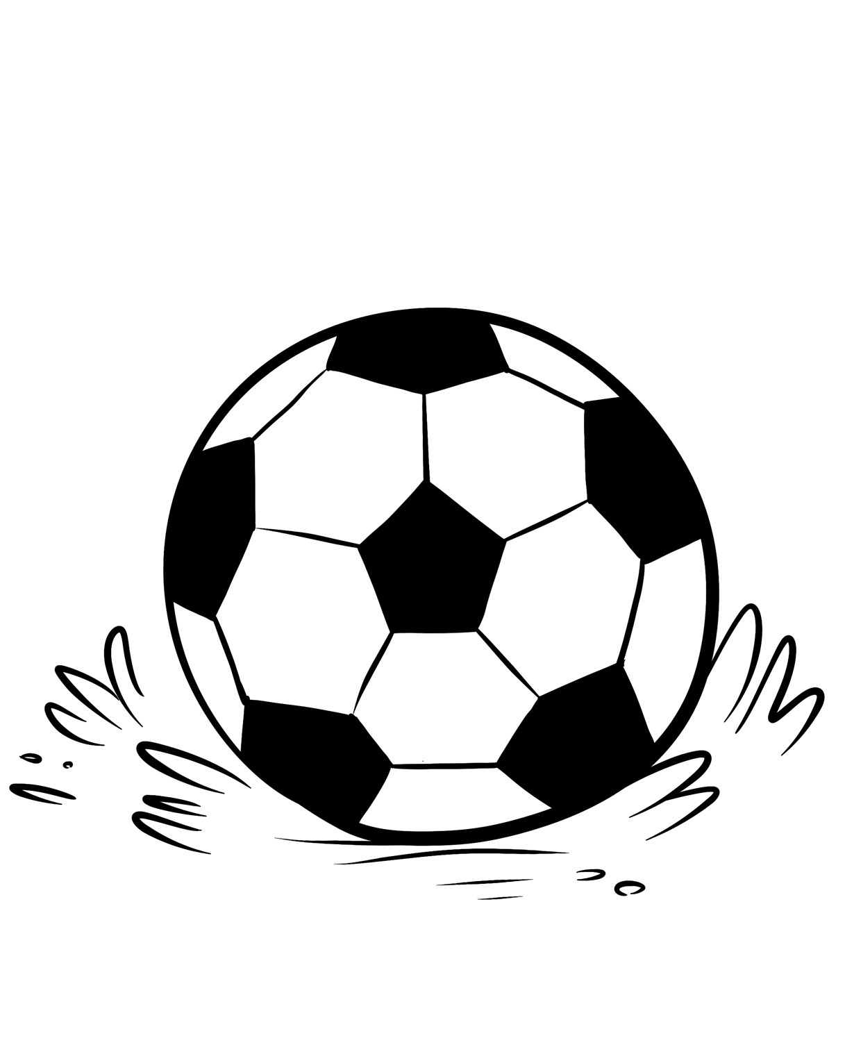 image regarding Free Printable Soccer Ball identified as No cost Printable Football Coloring Web pages For Young children