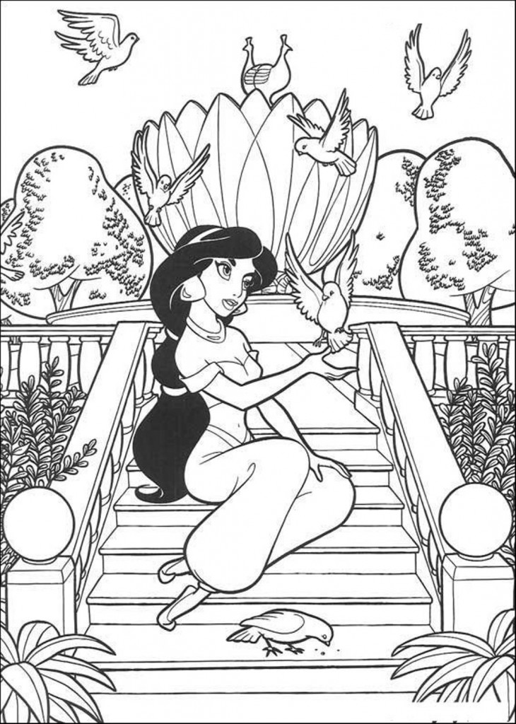 Disney Jasmine Coloring Pages