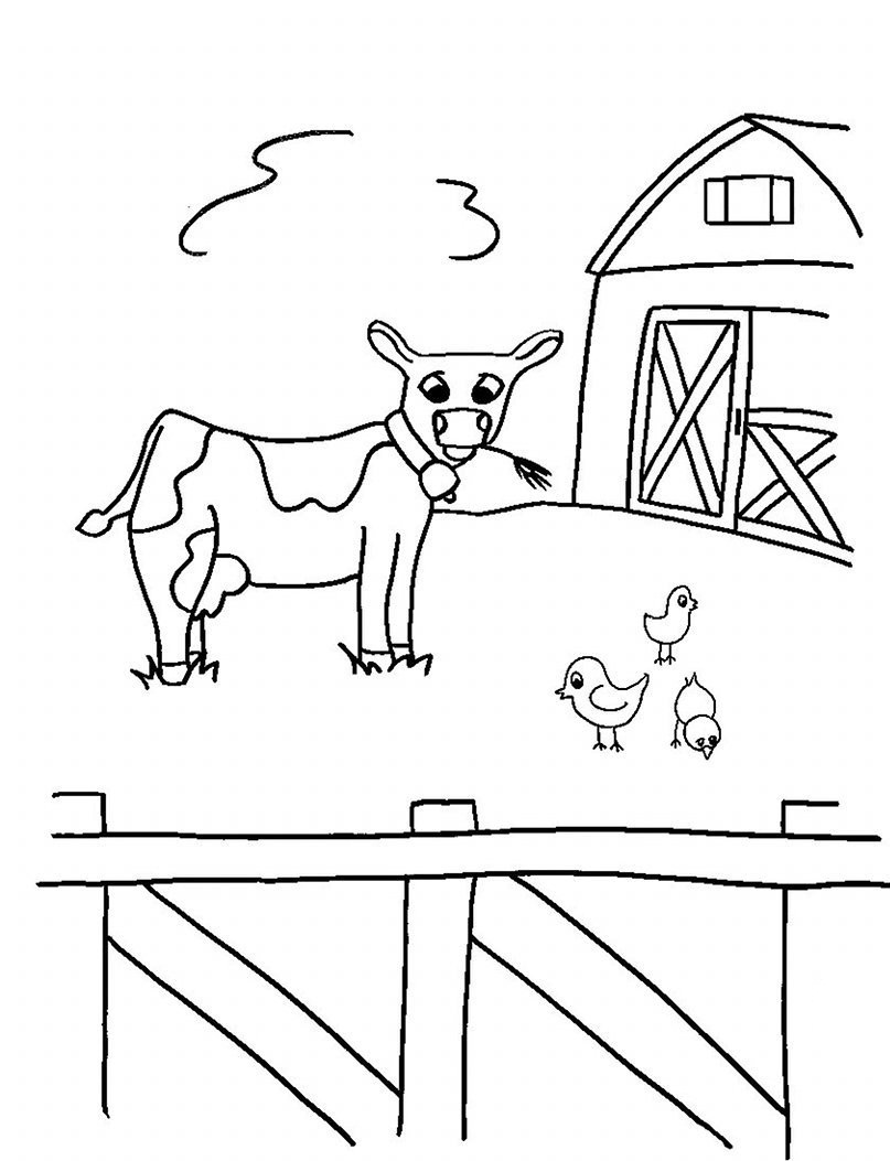 Free Printable Farm Animal Coloring