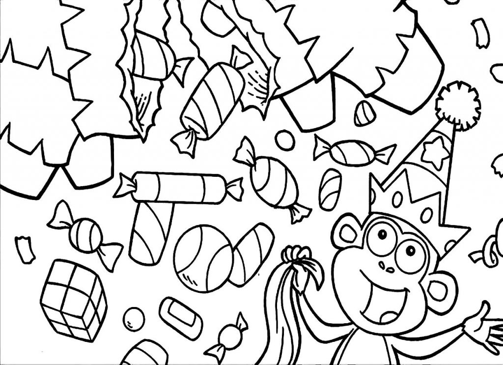 Free Candy Coloring Pages