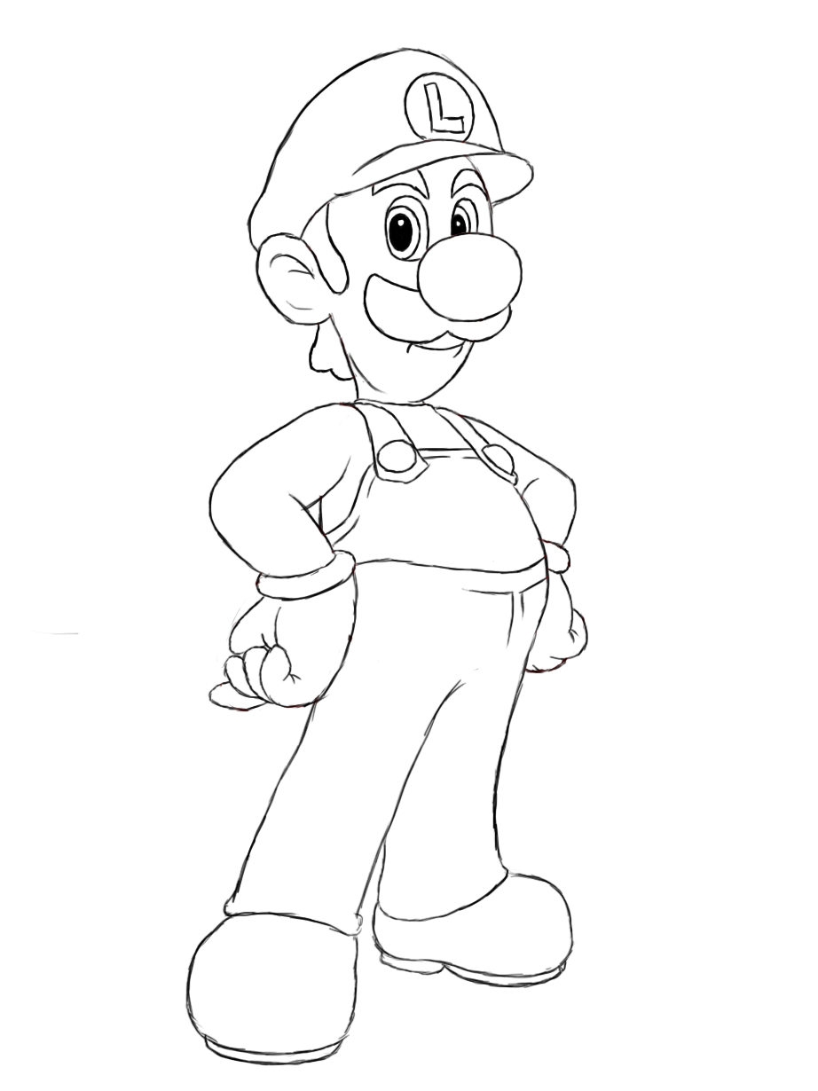 Drawing Lines In Html : Free printable luigi coloring pages for kids