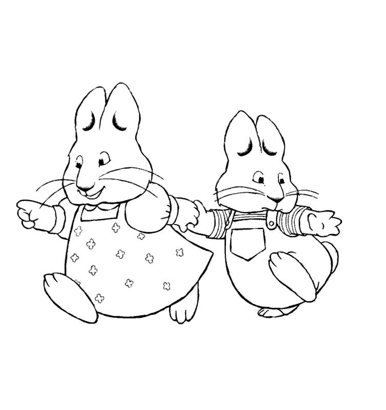 Free Max and Ruby Coloring Pages