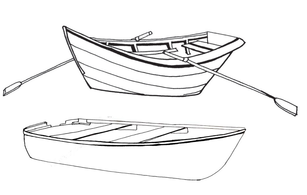 coloring book pages boat - photo#6