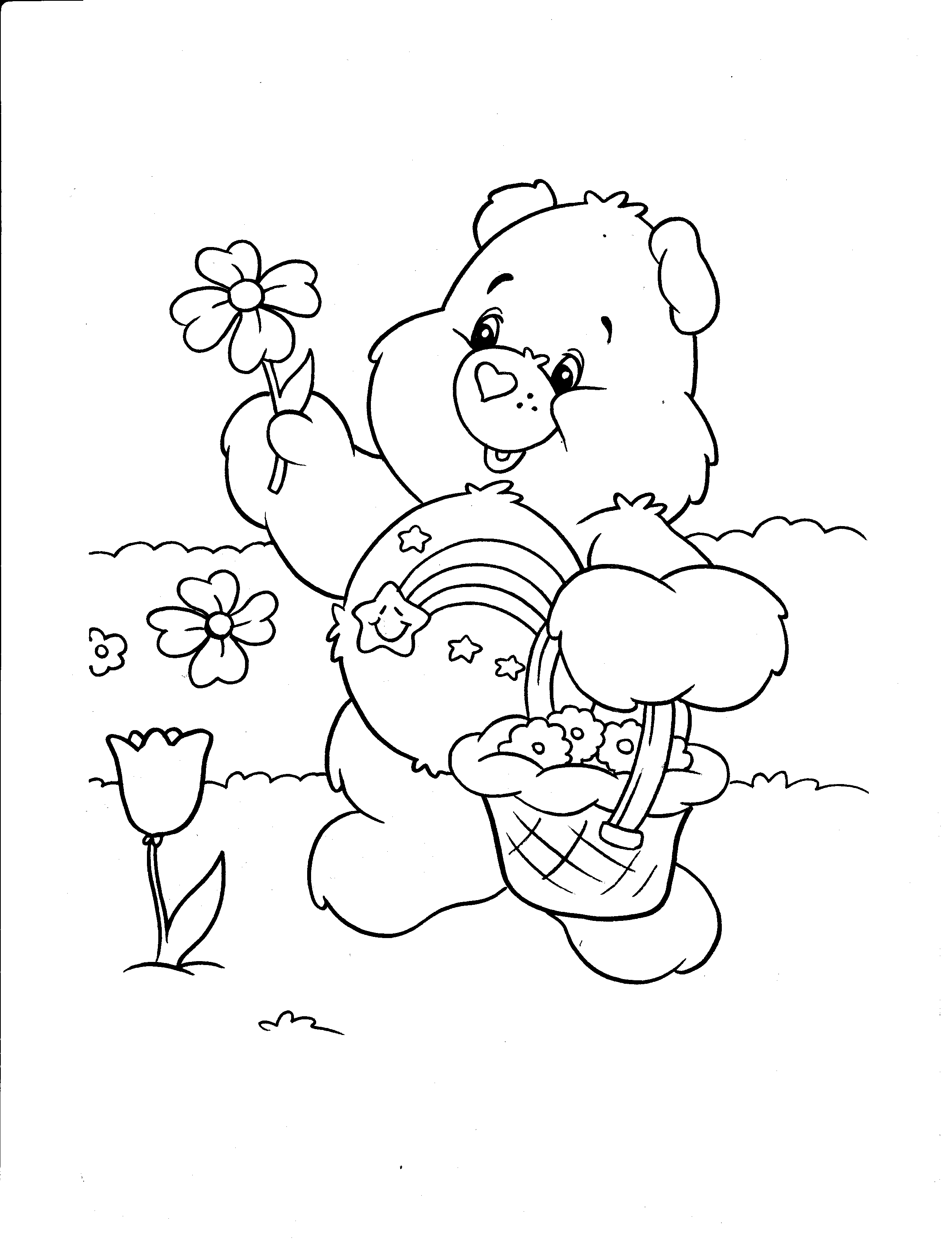 Free printable care bear coloring pages for kids for Free coloring book pages to print