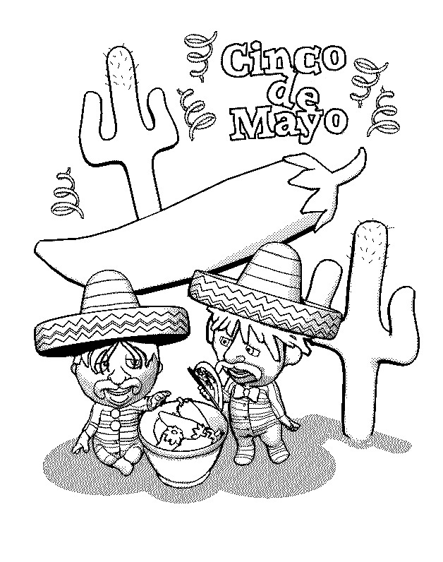 Free Printable Cinco De Mayo Coloring Pages