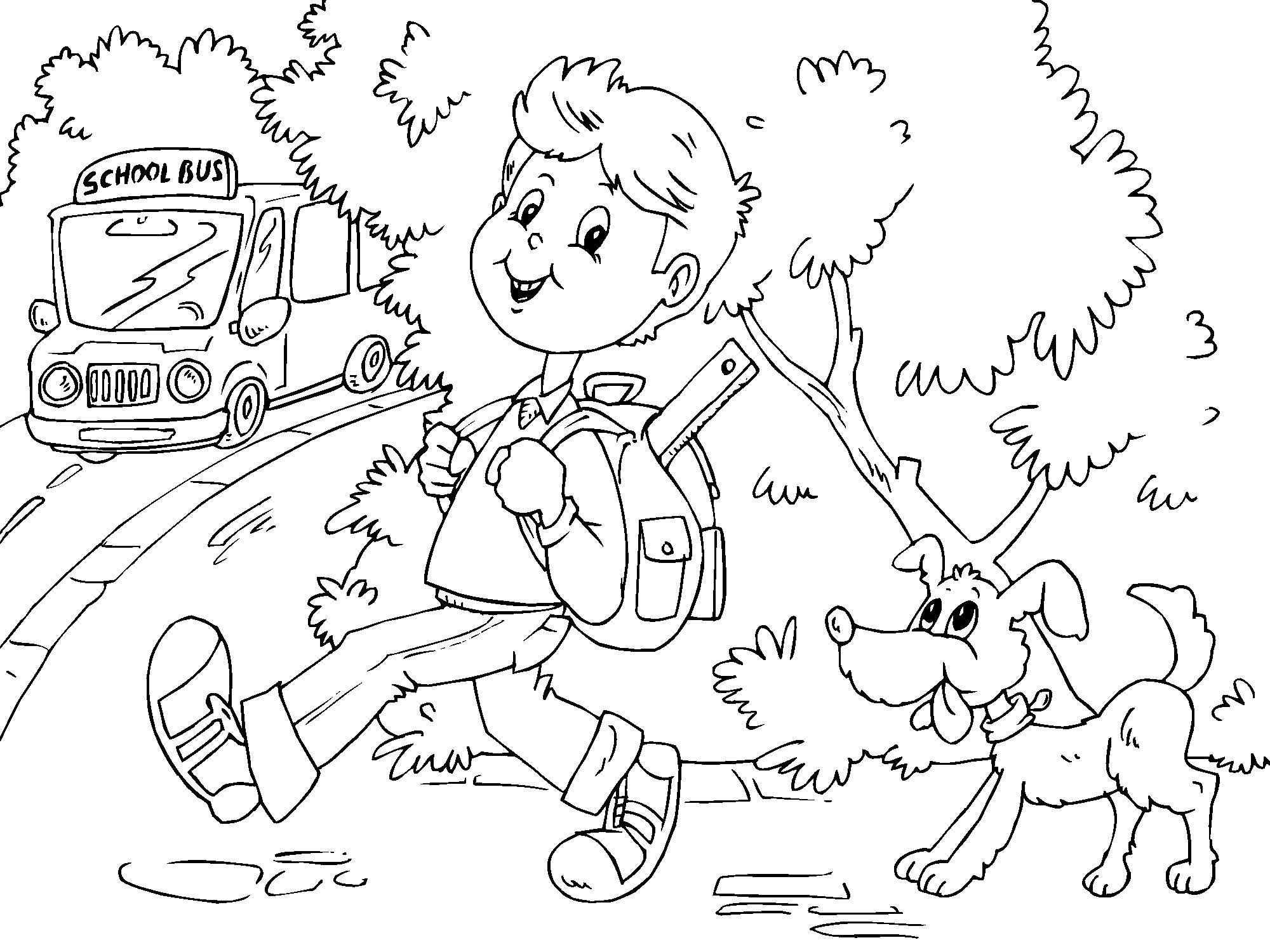 Dibujos Sobre La Escuela Para Colorear E Imprimir: Free Printable School Bus Coloring Pages For Kids