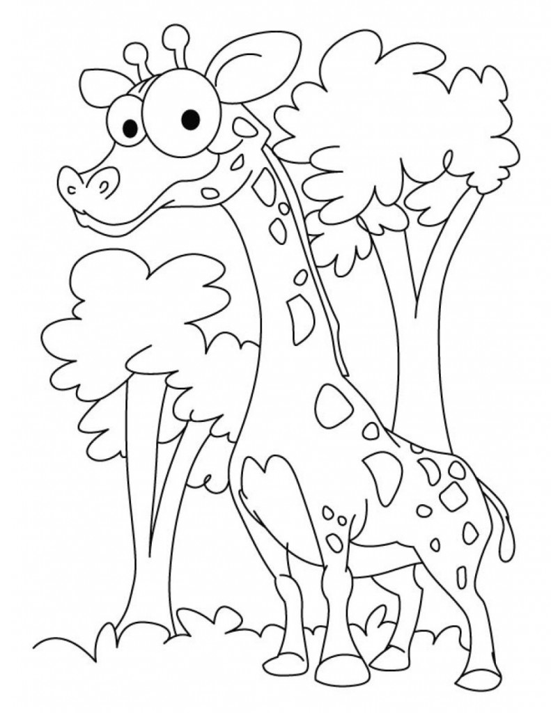 Funny Giraffe Coloring Pages