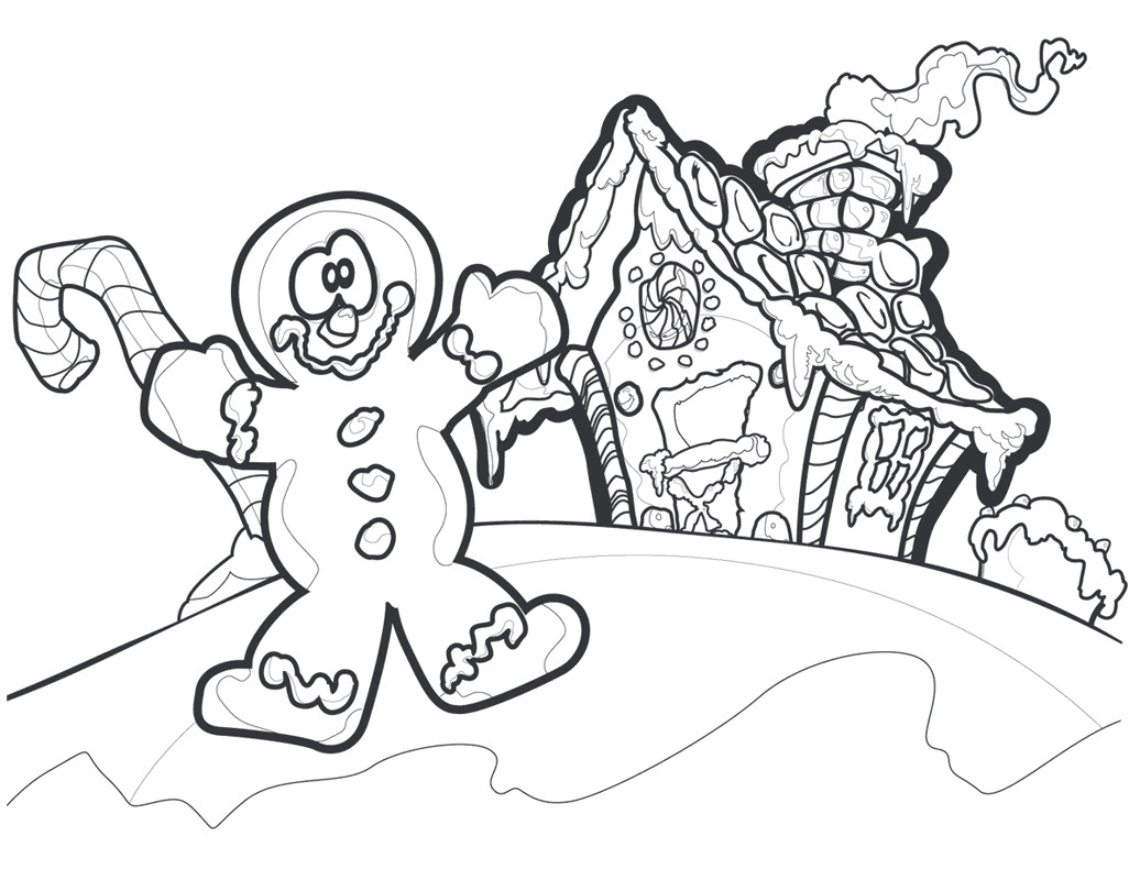Cute Gingerbread Man coloring page | Free Printable Coloring Pages | 800x1036