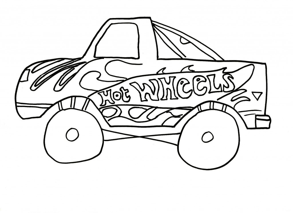 Free Printable Hot Wheels Coloring