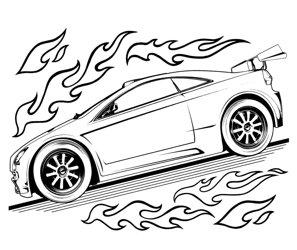 Free printable hot wheels coloring pages for kids for Free cars coloring pages to print