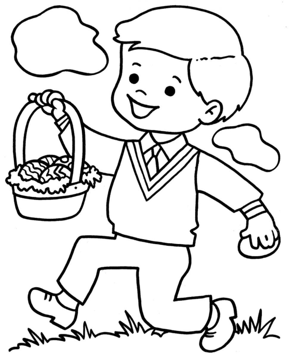 Little Boy Coloring Pages