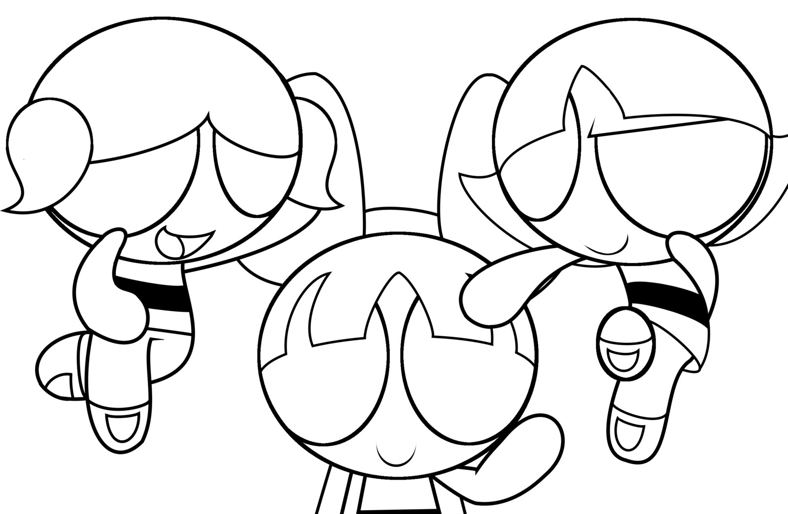 Powerpuff Blossom Coloring Pages