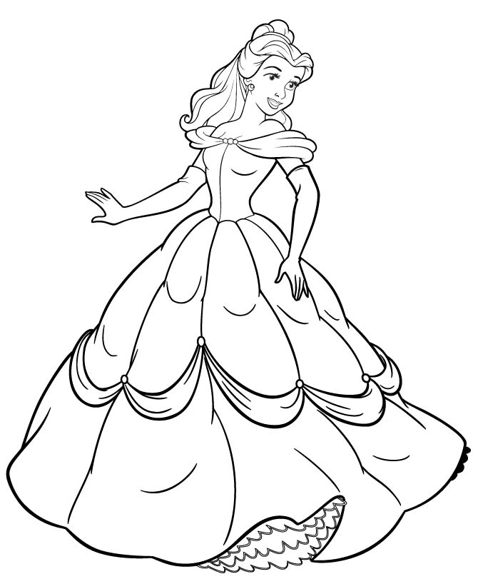 princess coloring pages belle murderthestout