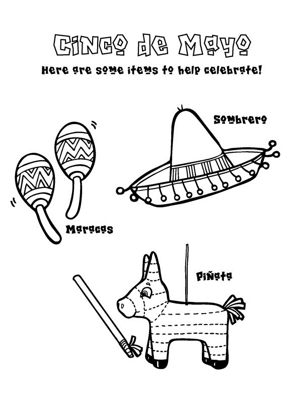 Printable Cinco De Mayo Coloring Pages