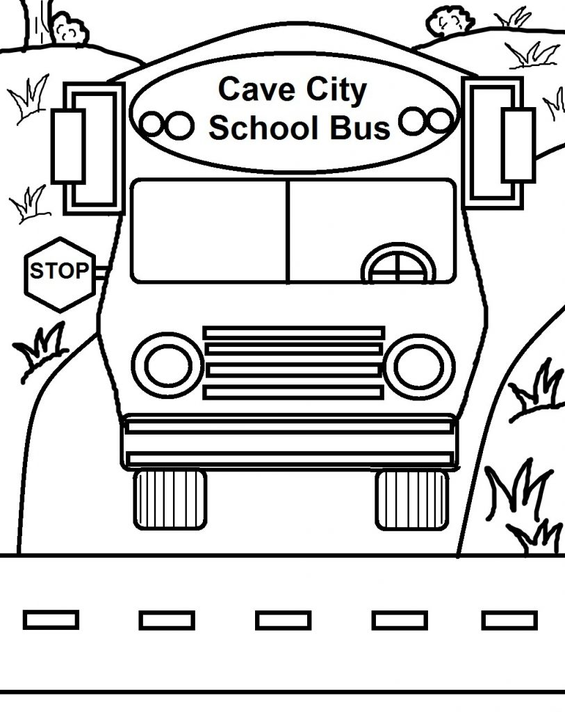 Printable School Bus Coloring Page