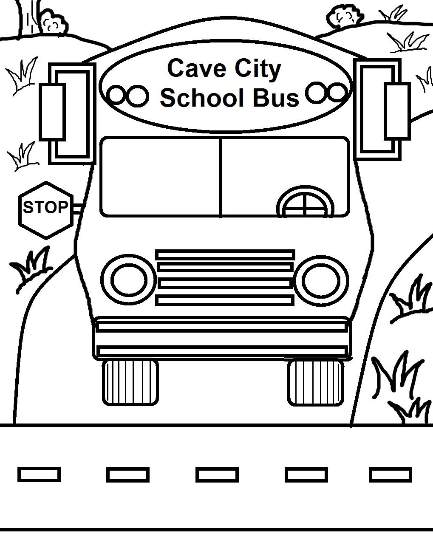 Printable School Bus Coloring Page
