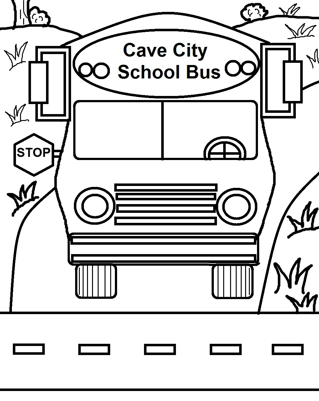 Free Printable School Bus Coloring