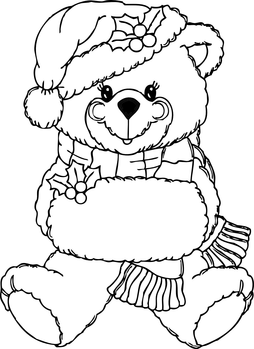 Free printable teddy bear coloring pages for kids for Art is fun coloring pages