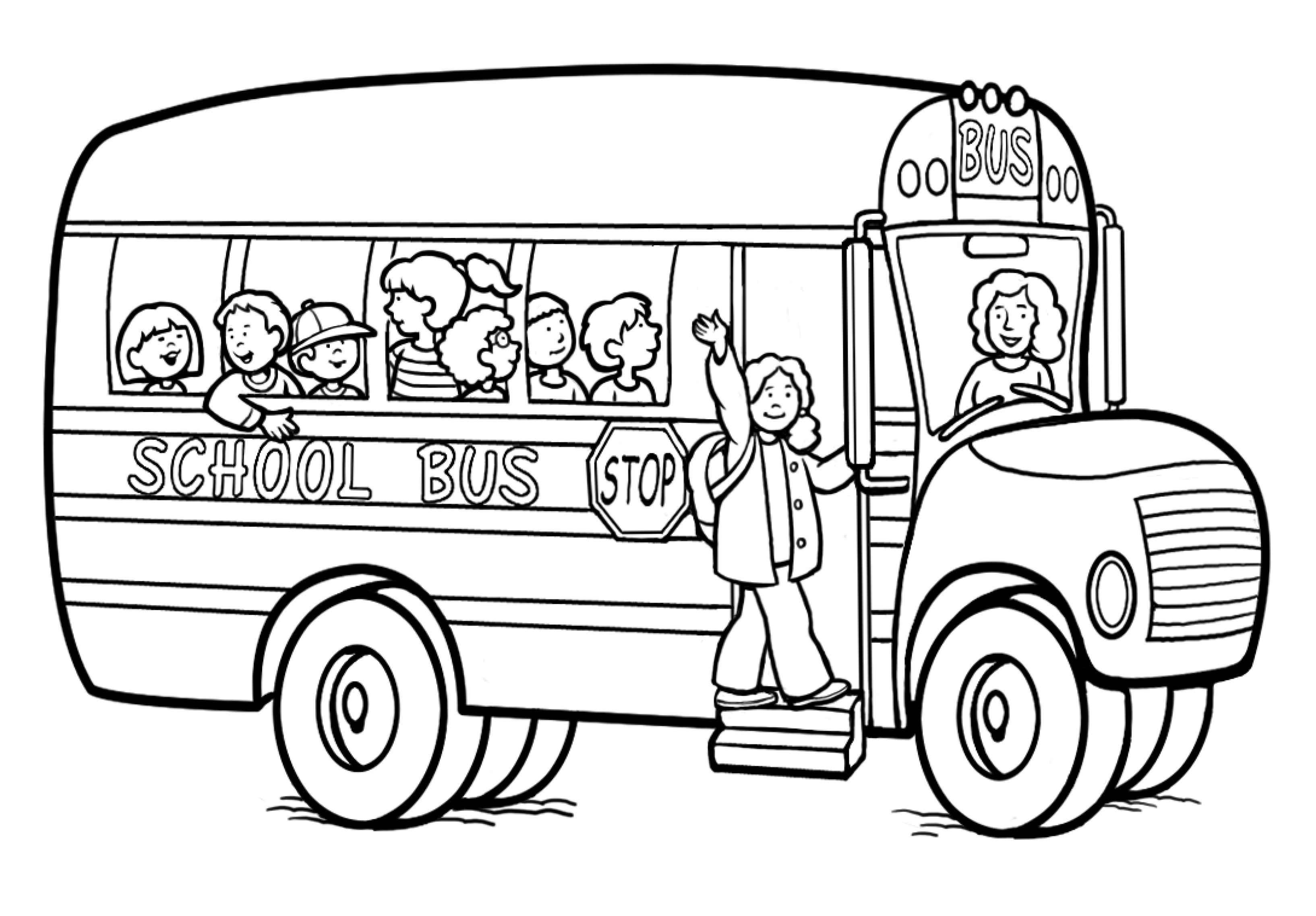 Free Printable School Bus Coloring