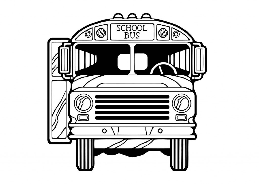 School Bus Coloring Pages for Kids