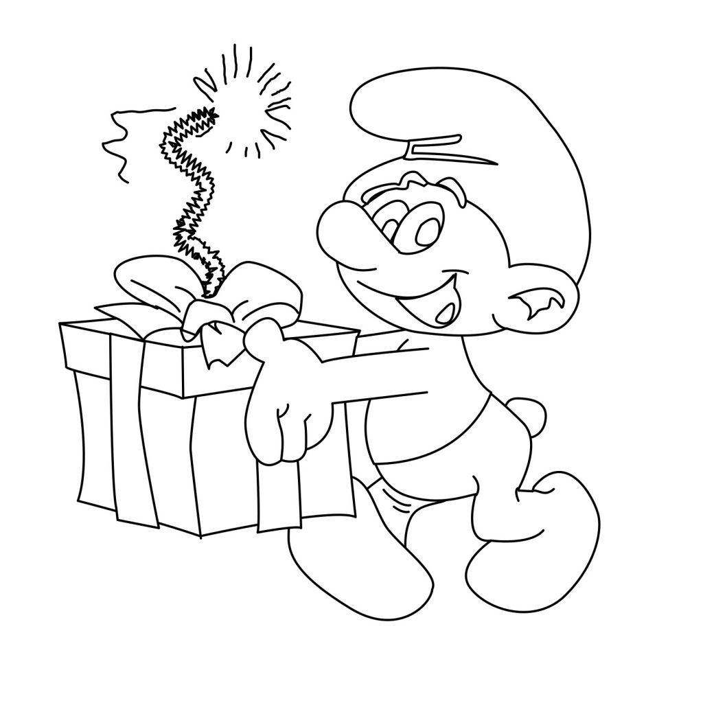 Smurf Coloring Page