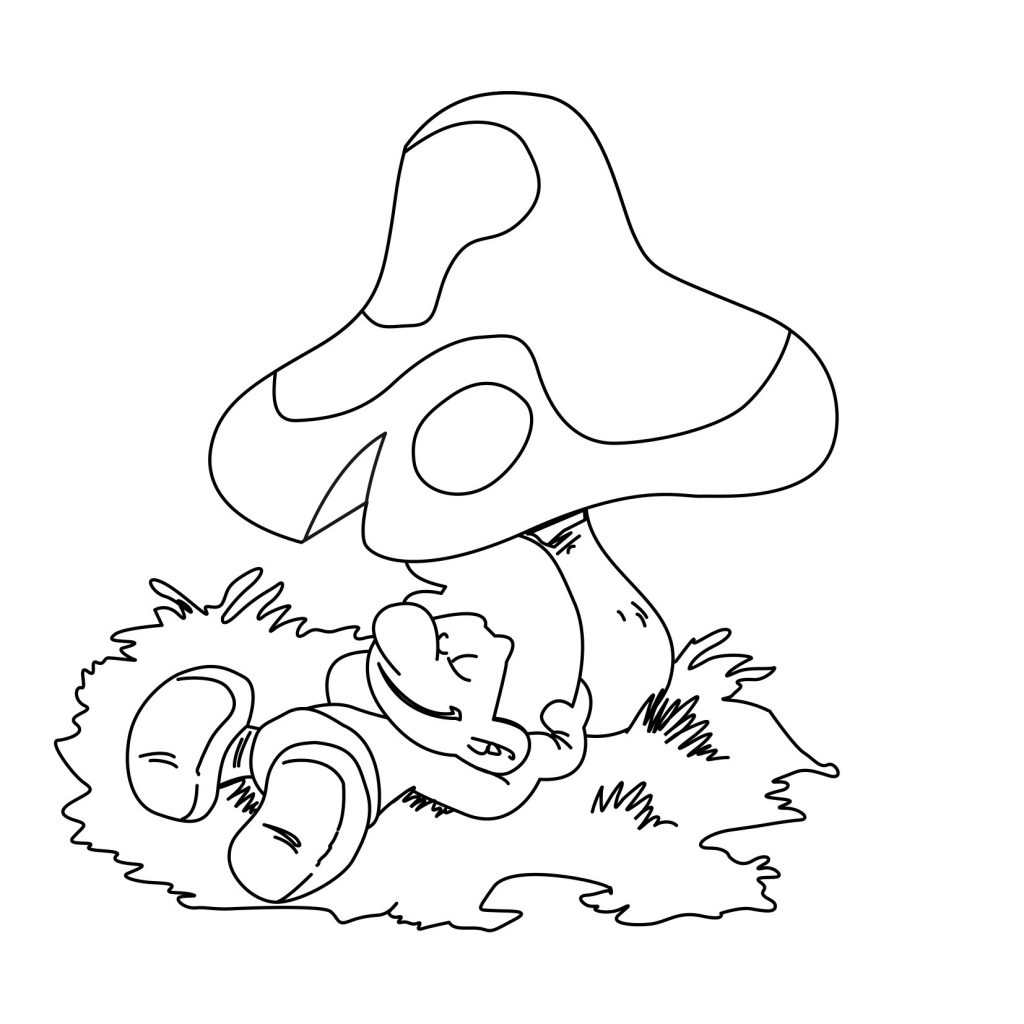 Smurf Coloring Pages Printable