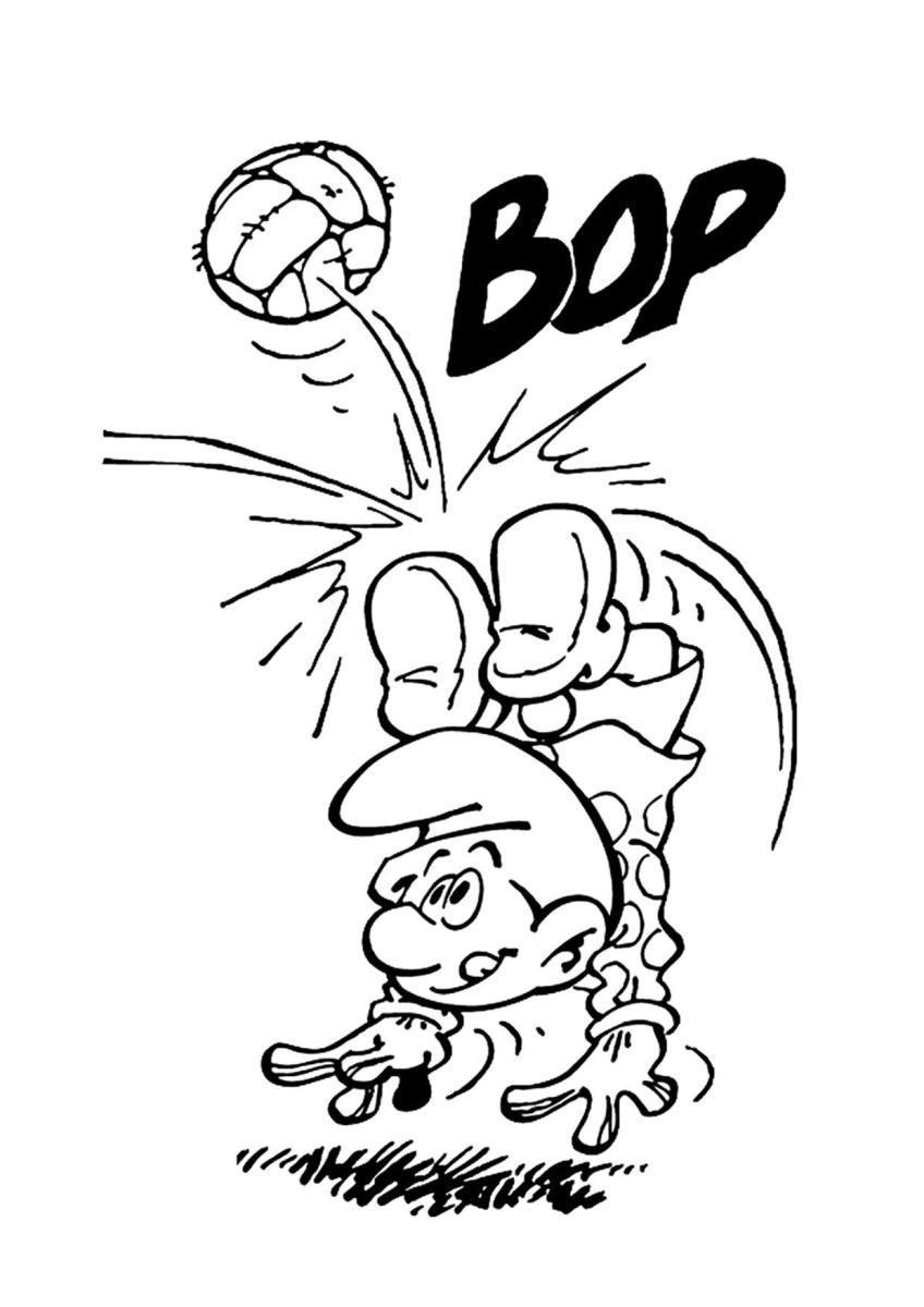 Free Printable Smurf Coloring Pages
