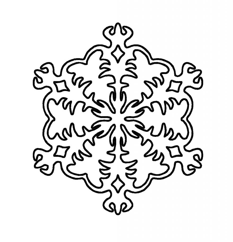 It is a picture of Dramatic Snowflake Coloring Pictures