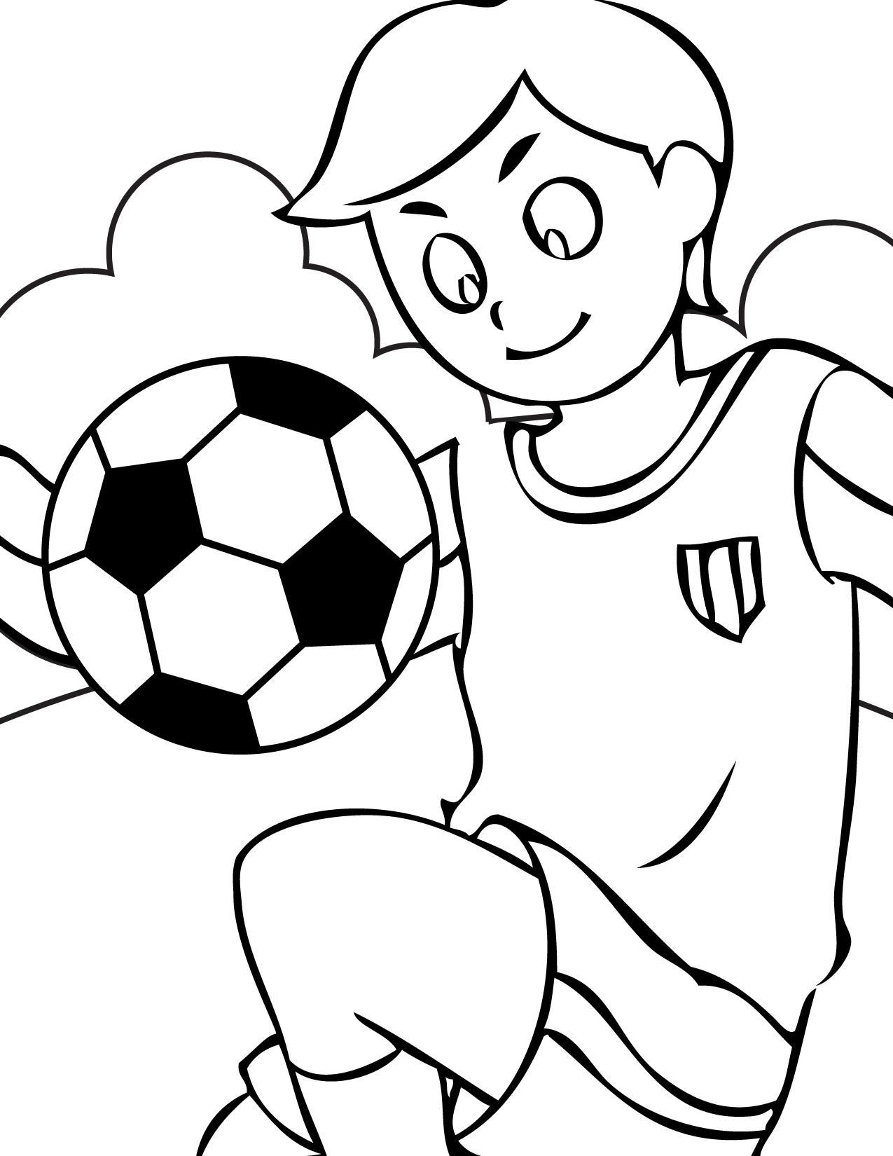 Free printable soccer coloring pages for kids Coloring pages book for kids girls