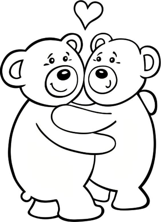 Free Printable Teddy Bear Coloring