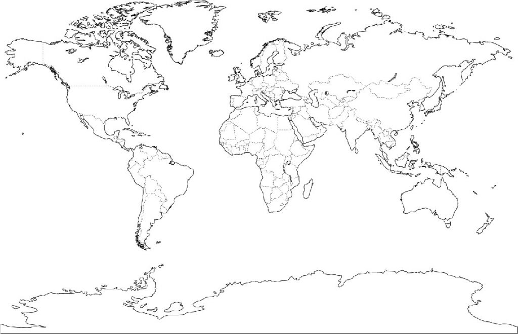 World Map Coloring Page 1024x661