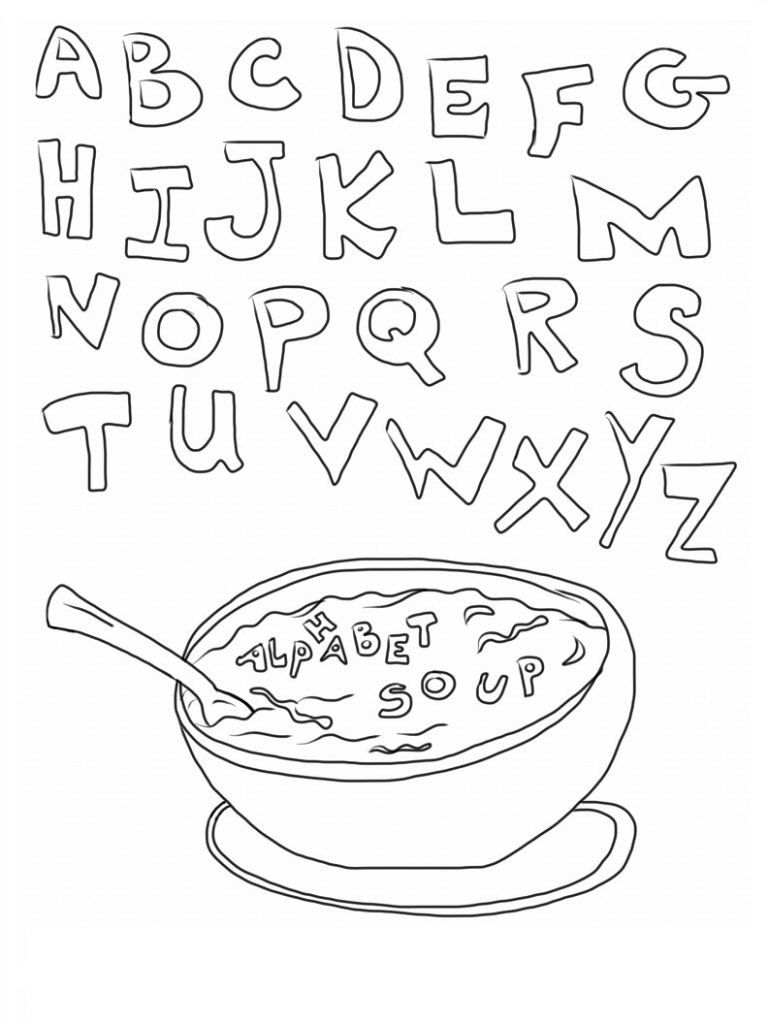 Abc Coloring Pages to Print