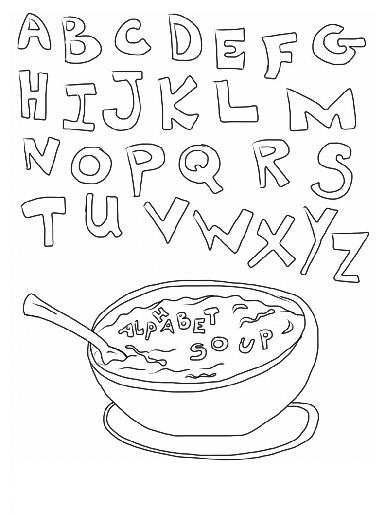 coloring pages for abc | Free Printable Abc Coloring Pages For Kids