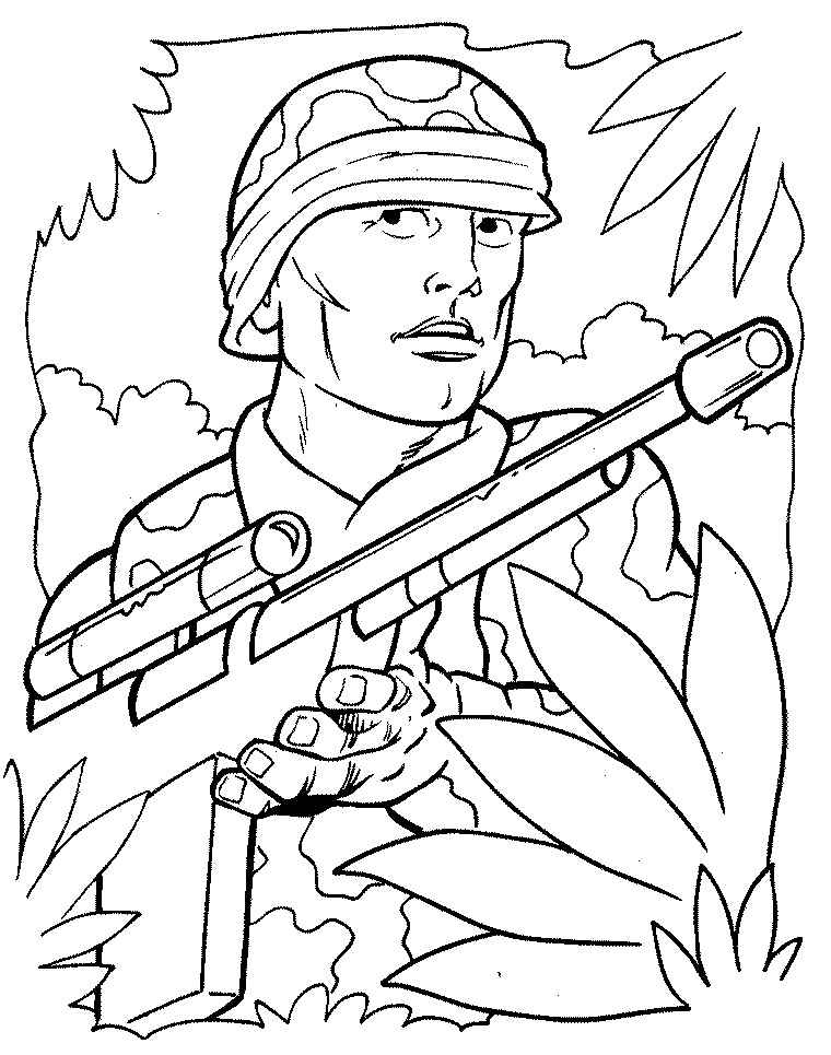 Free Printable Army Coloring Pages
