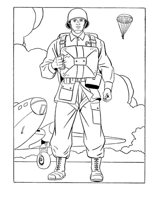 free army coloring pages soldier - photo#9