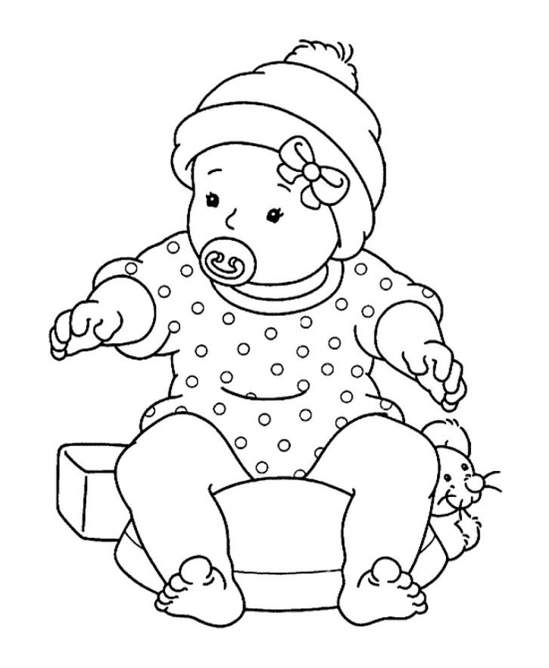 Free printable baby coloring pages for kids for Boys color pages