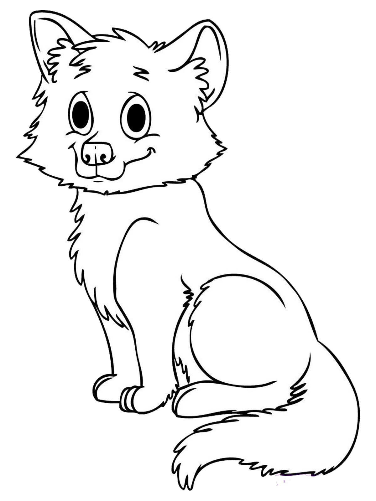 photograph relating to Fox Printable named Totally free Printable Fox Coloring Web pages For Young children