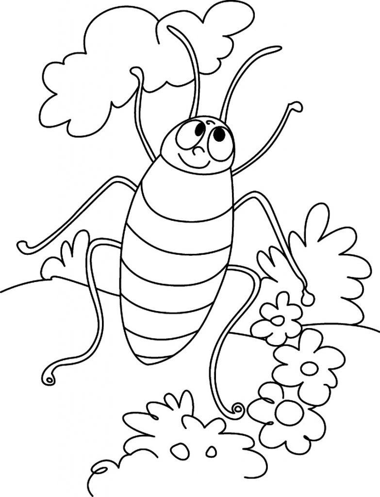 Cartoon Cockroach Coloring Pages