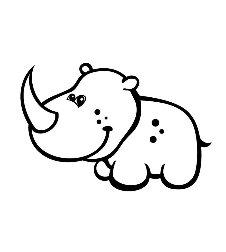 photograph regarding Rhino Printable called Absolutely free Printable Rhinoceros Coloring Internet pages For Young children