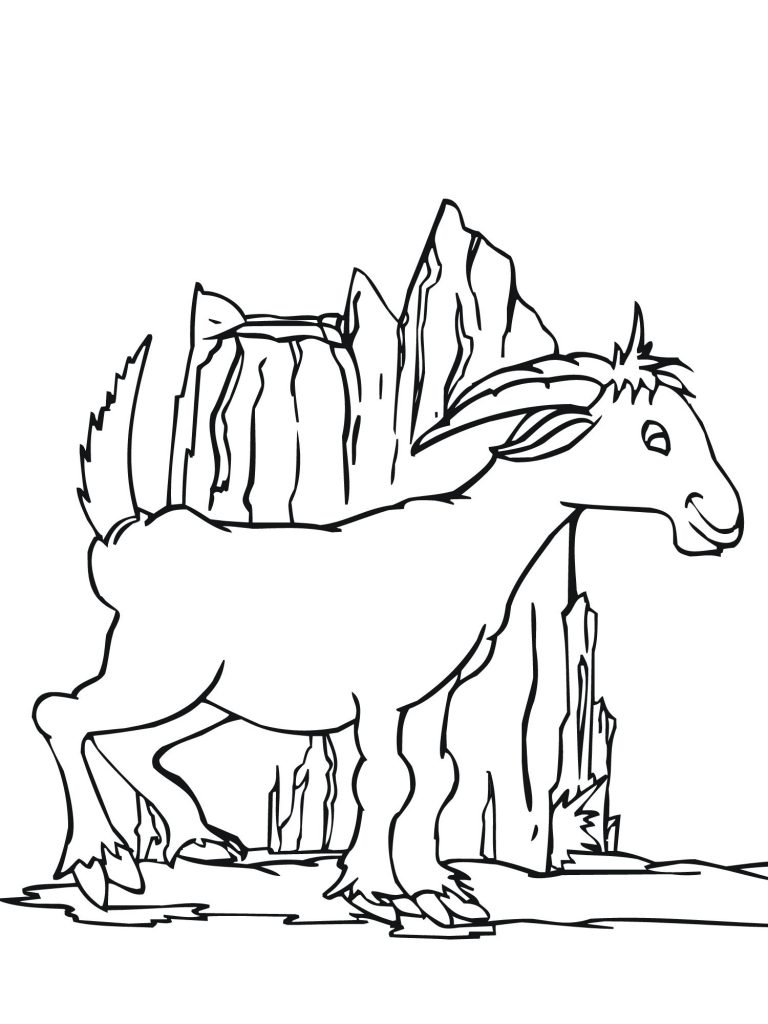 Free Printable Goat Coloring Pages