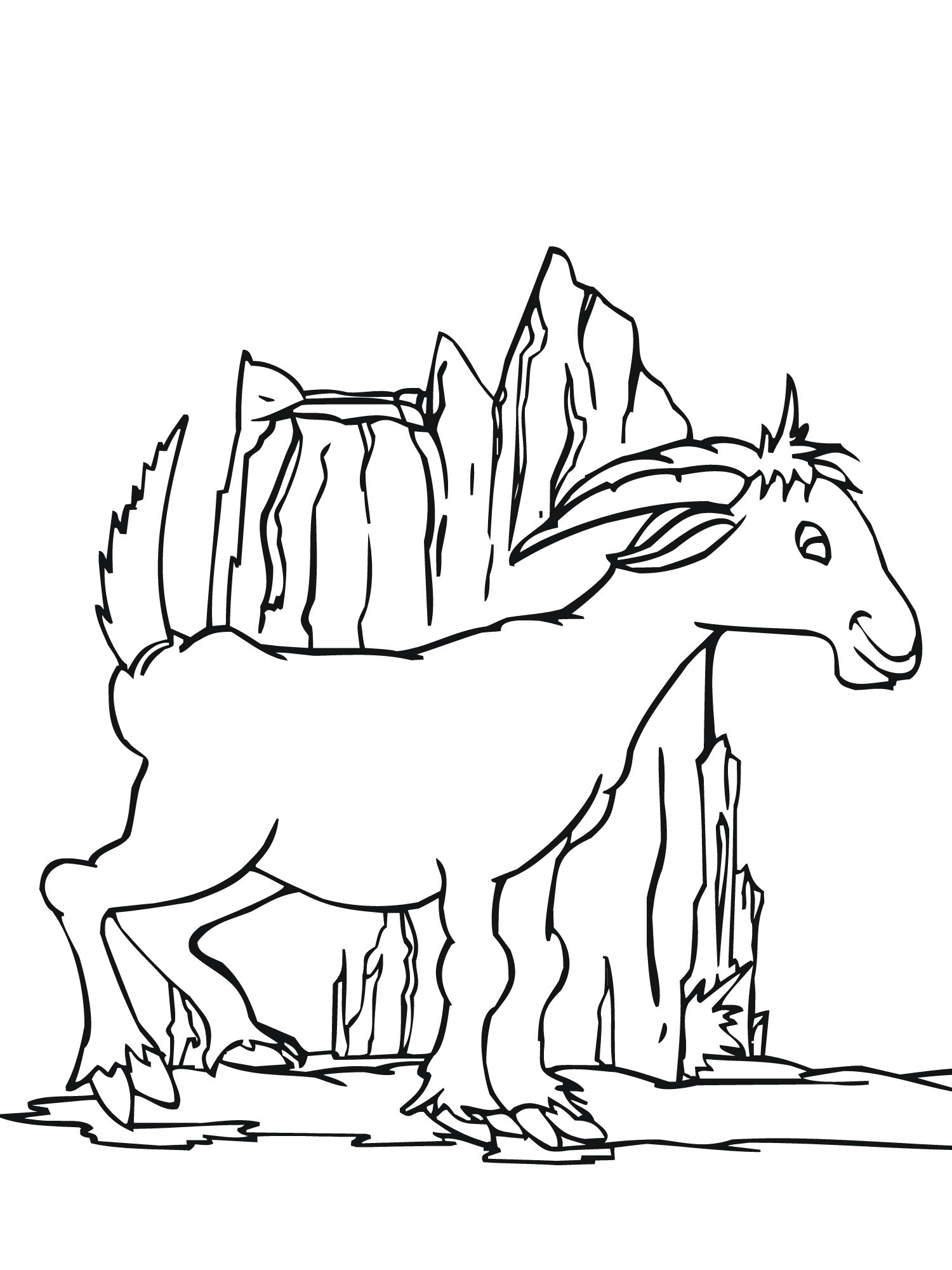 Beautiful Coloring Pages Of Goat