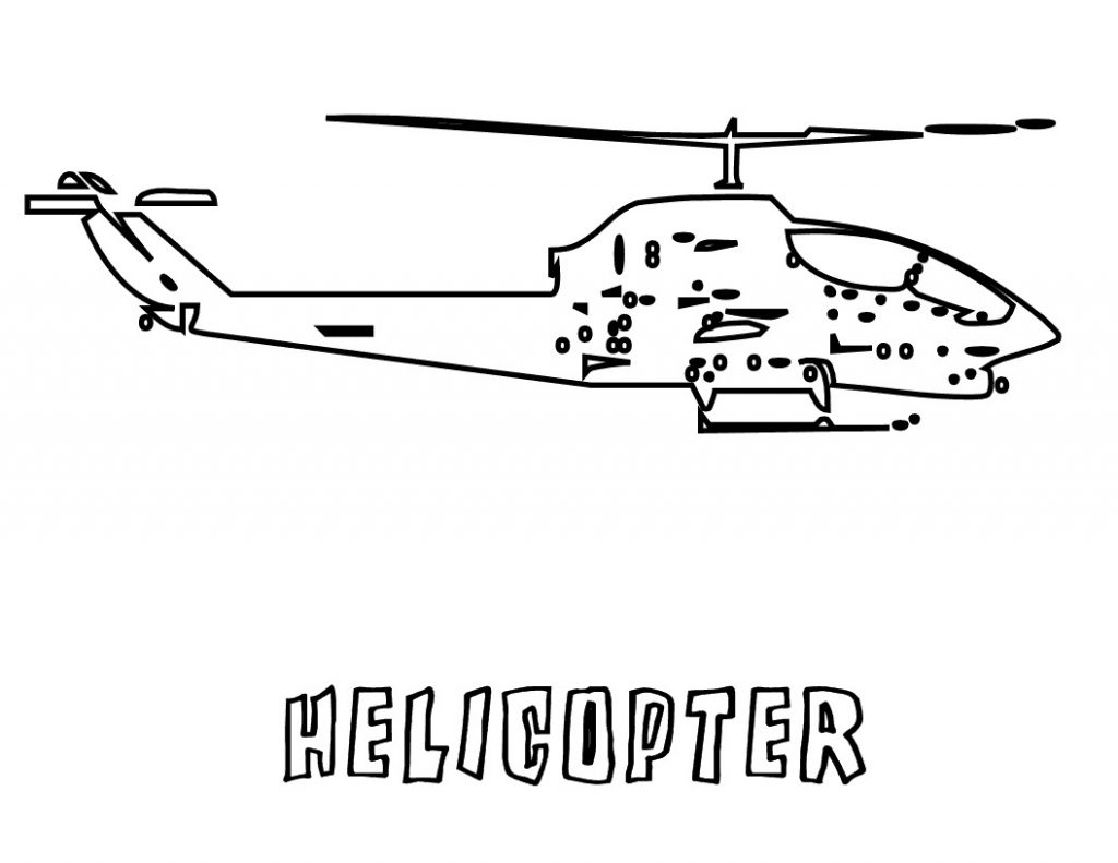 Coloring Pages of Helicopter