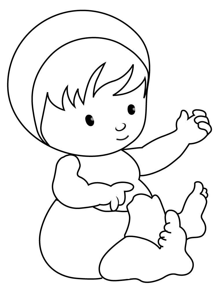 Free printable baby coloring pages for kids for Photo to coloring page