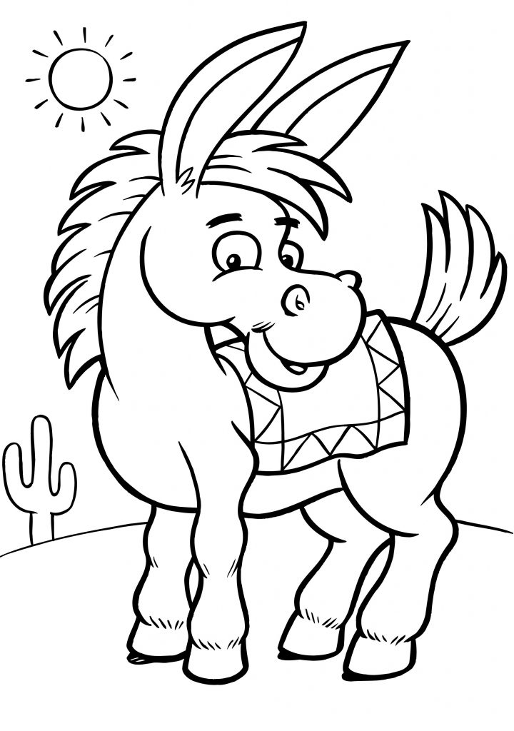 Donkey Coloring Page