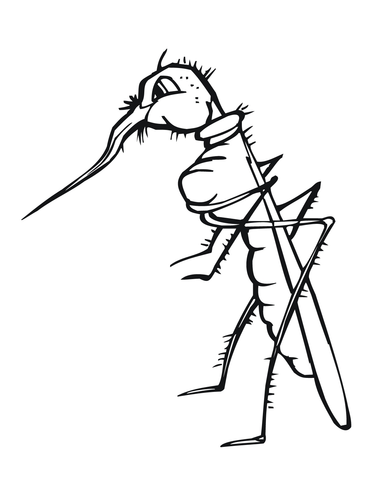 Free Printable Mosquito Coloring Pages For Kids | 1600x1200